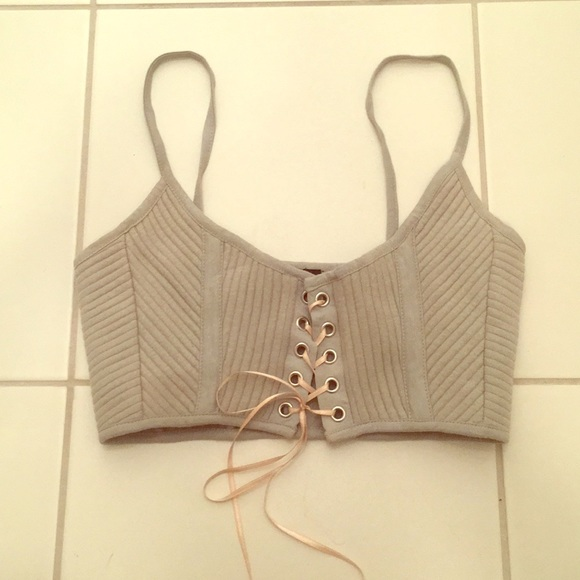 Topshop Tops - Topshop crop top/bralette